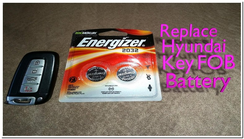 2011 Hyundai Sonata Key Fob Battery Type