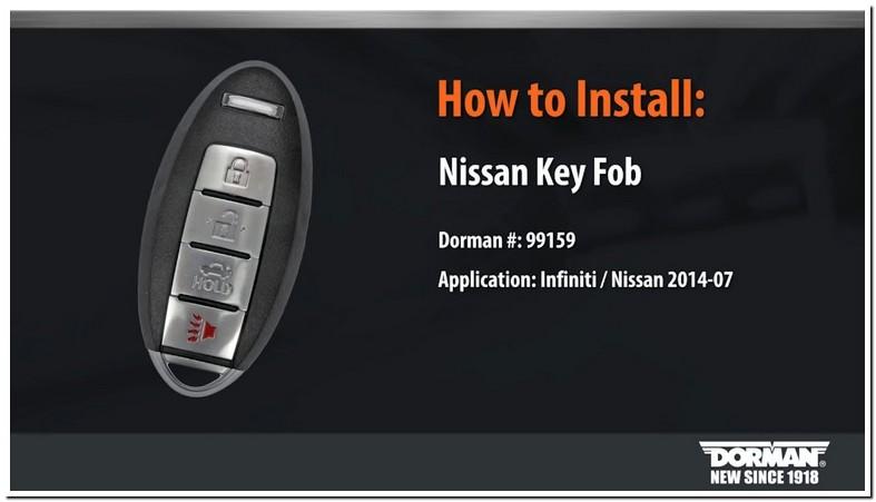 2011 Nissan Altima Key Fob Programming