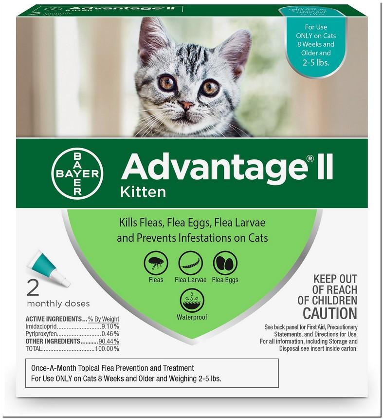 Advantage 2 For Kittens Dosage