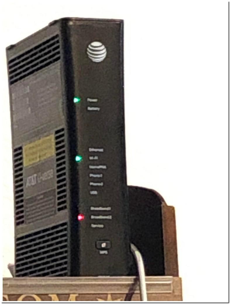 At U Verse Wireless Access Point Blinking