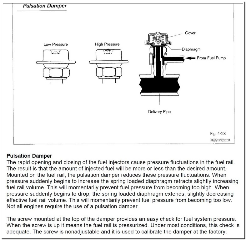 Bad Fuel Pulsation Damper Symptoms