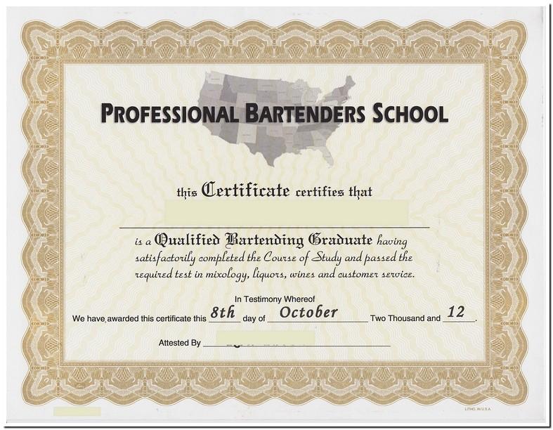 Bartenders License Indiana