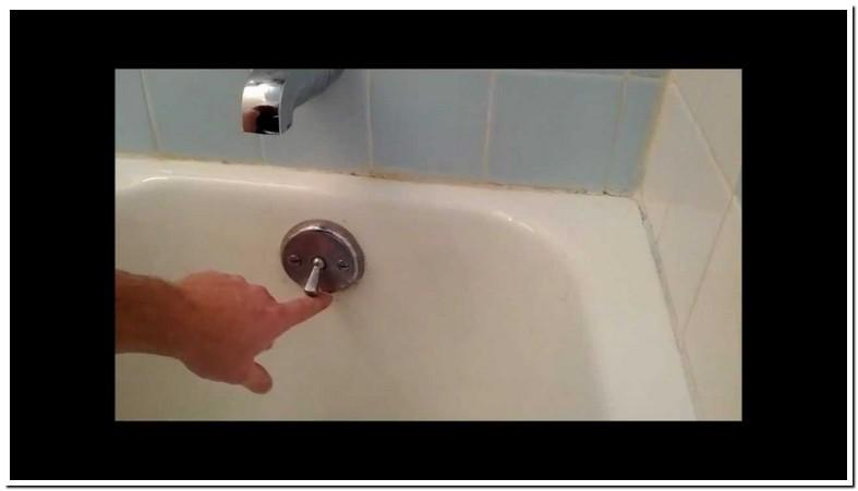 Bathtub Trip Lever Fix