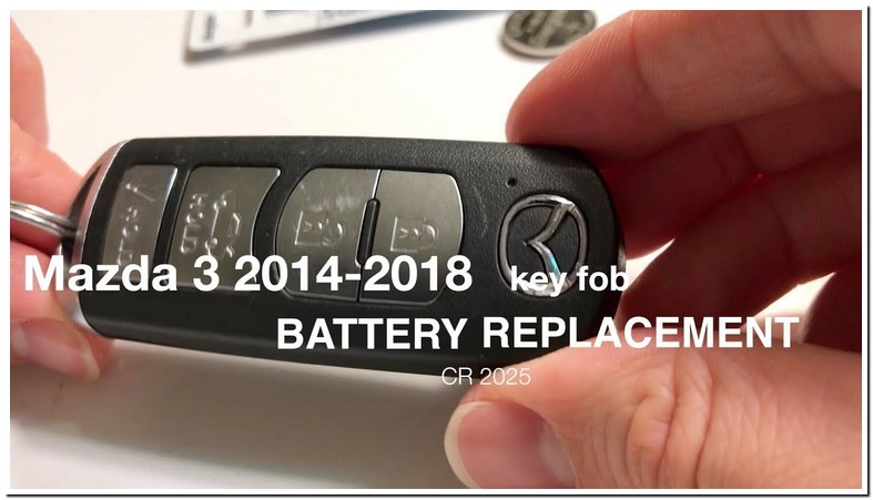 Battery For Mazda 3 Key Fob 2018