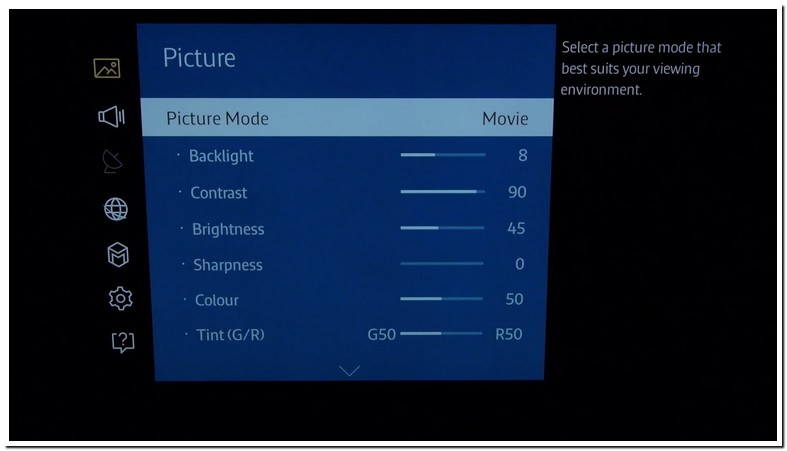 Best Picture Settings For Samsung Smart Tv 6300