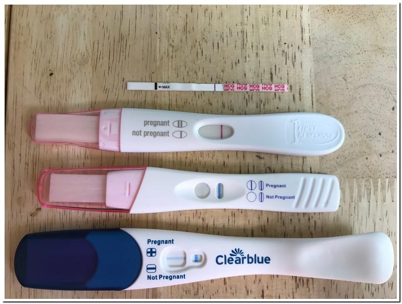 Blue Dye Pregnancy Test Positive Pink Dye Negative