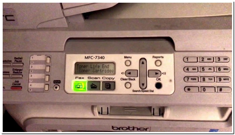 Brother Mfc 7340 Toner Life End Reset