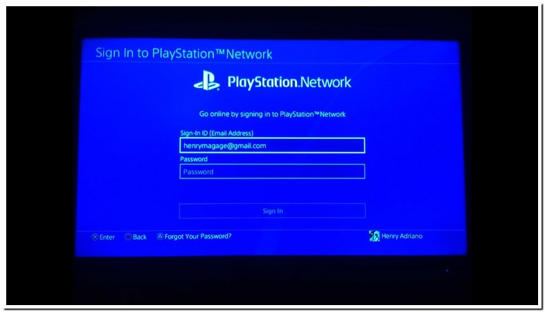 Can Sign Into My Playstation Network
