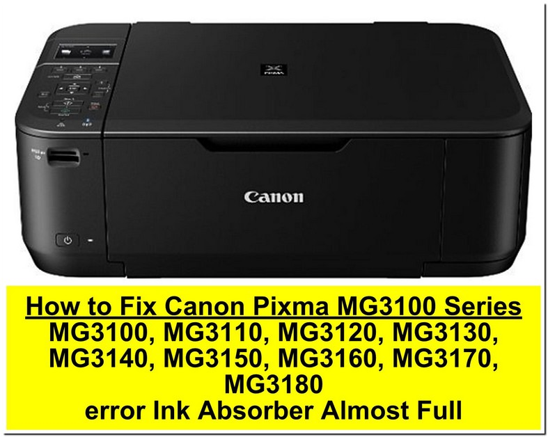 Canon Mg3100 Ink Absorber Full