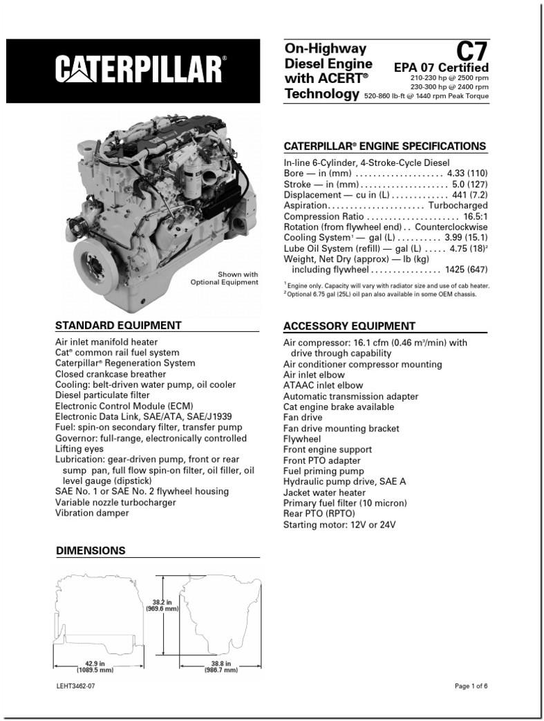 Cat C7 Oil Specs