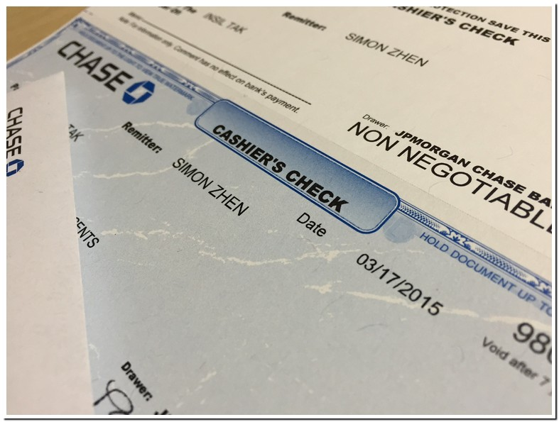 Chase Bank Certified Check Online