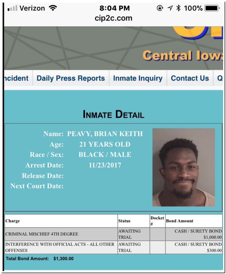 Criminal Mischief 4th Iowa