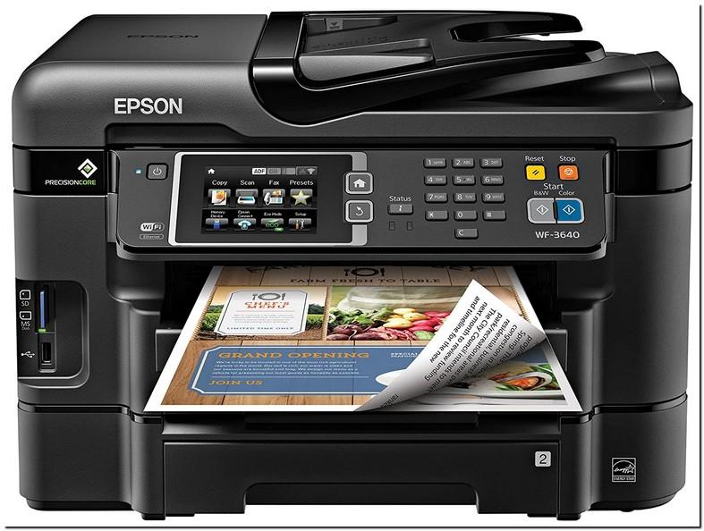 Epson Workforce Wf 3620 Wireless All In One Printer Black