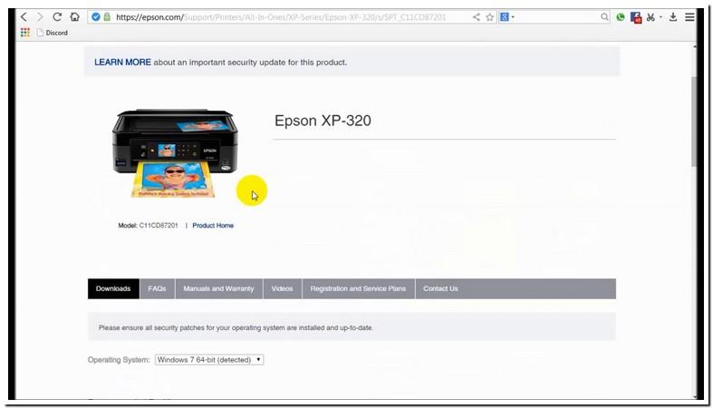 Epson Xp 320 Driver Unavailable