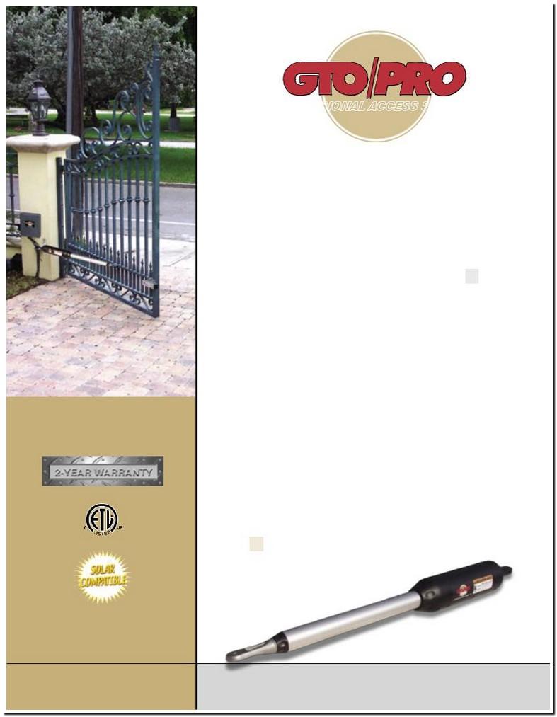 Gto Pro 2500 Gate Opener Manual