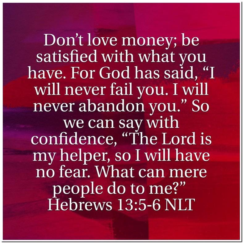 Hebrews 13 5 6 Explanation