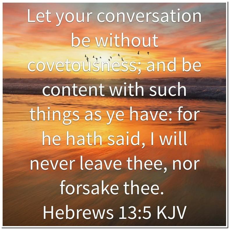 Hebrews 13 5 Kjv Meaning