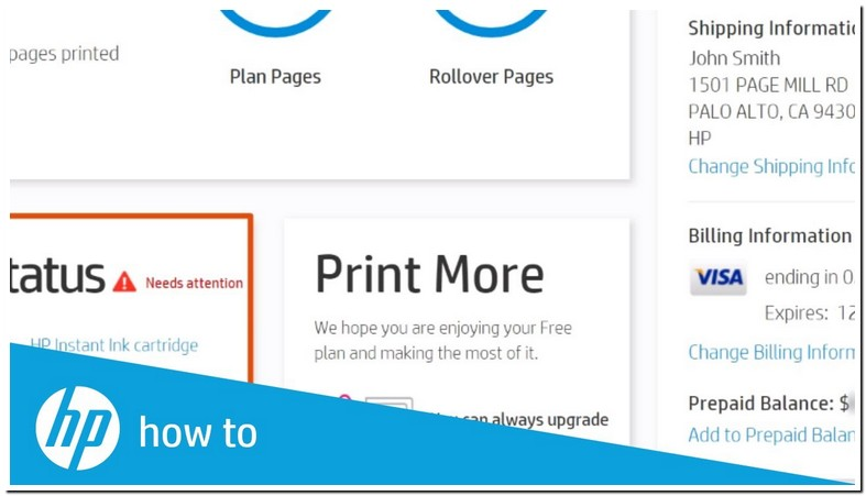 Hp Instant Ink Account Sign In