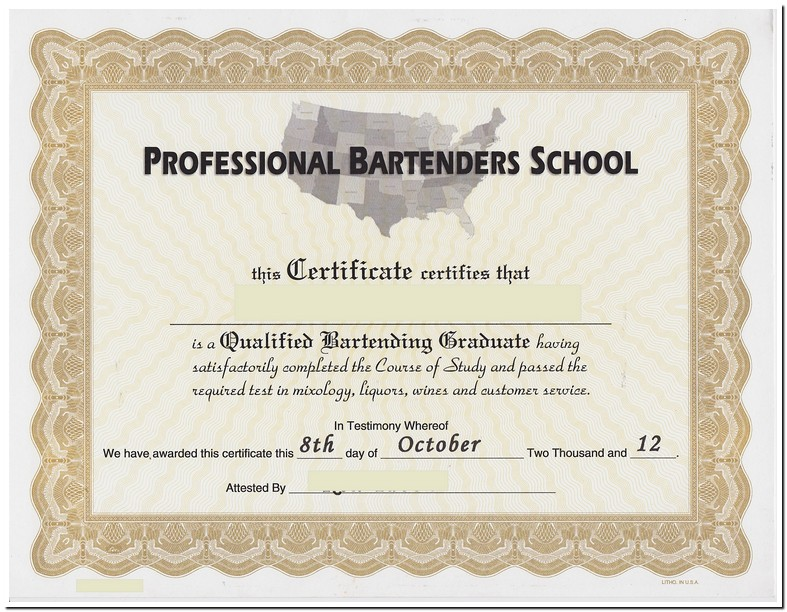 Indiana Bartenders License Test
