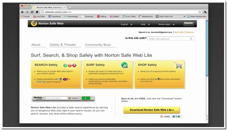 Is Norton Safe Search Free