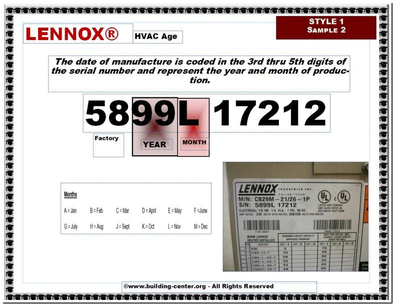 Lennox Heat Pump Manufacture Date