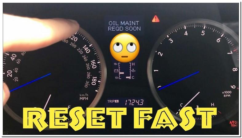 Lexus Is250 Oil Change Light Reset