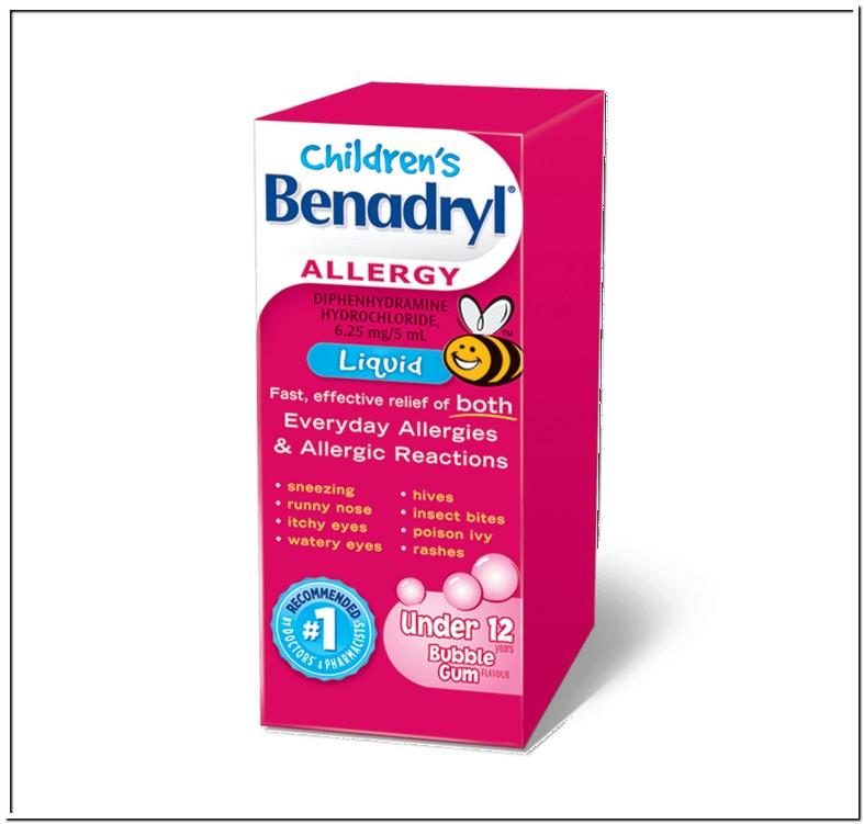 Liquid Benadryl Dose For 9 Month Old