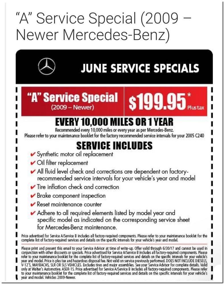 Mercedes C300 Oil Change Interval