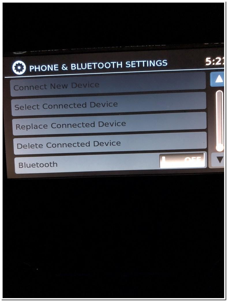 Nissan Rogue Bluetooth Problems