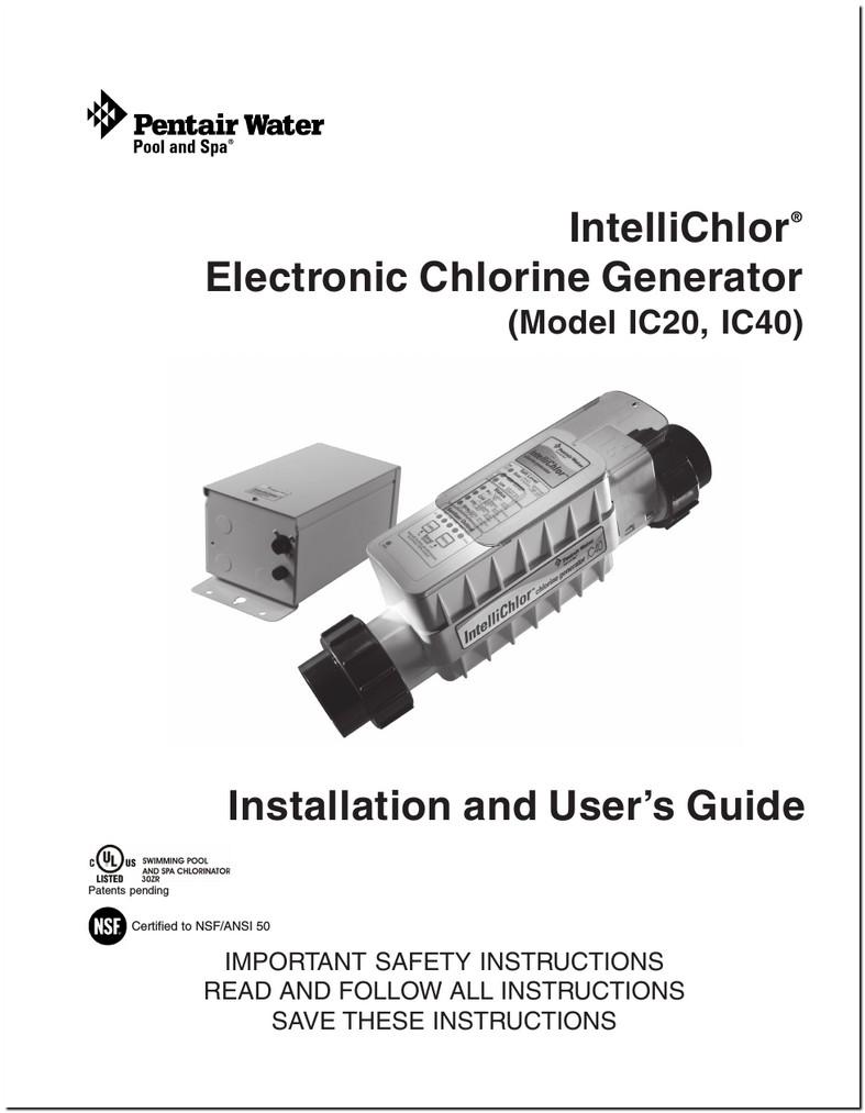 Pentair Intellichlor Ic20 Manual