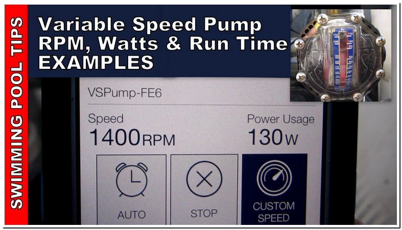 Pentair Variable Speed Pool Pump Recommended Settings