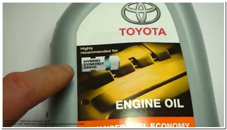 Prius Oil Type 2012