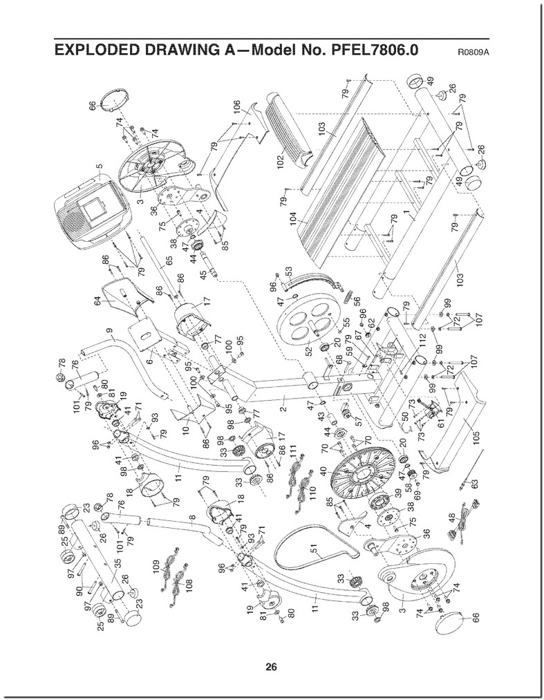 Proform 20.0 Crosstrainer Elliptical Battery Cover