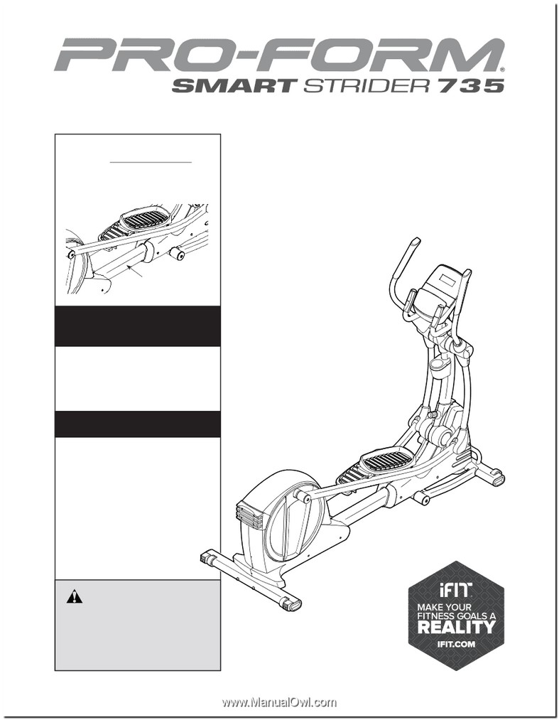 Proform Smart Strider 735 Manual