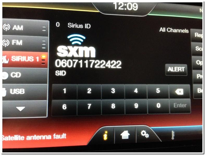 Reset Xm Radio Canada