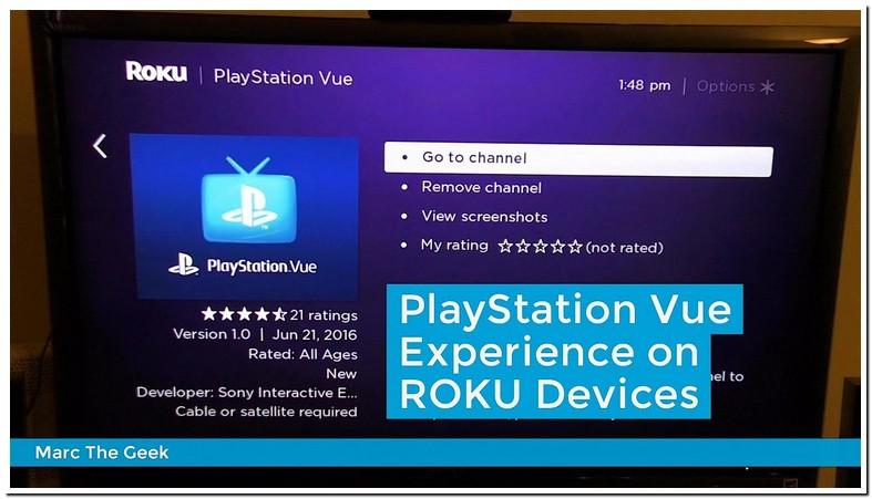 Roku Playstation Vue Activate