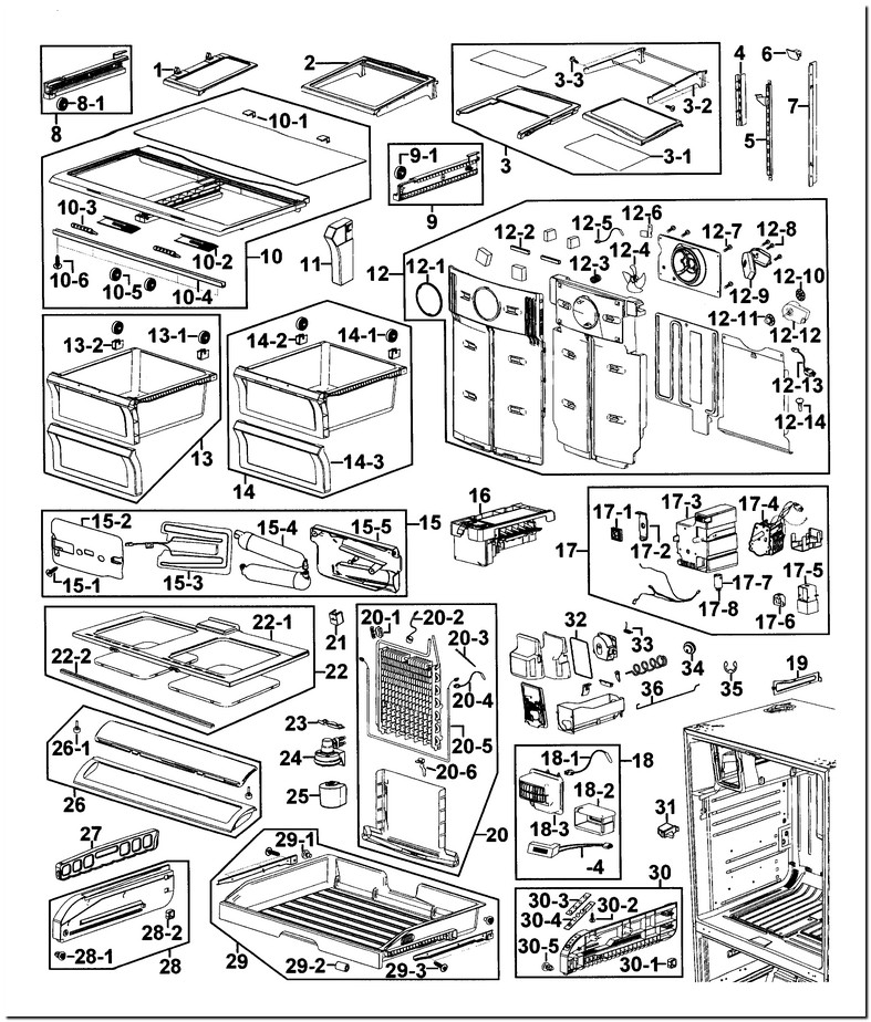 Samsung Refrigerator Rf267aers Parts