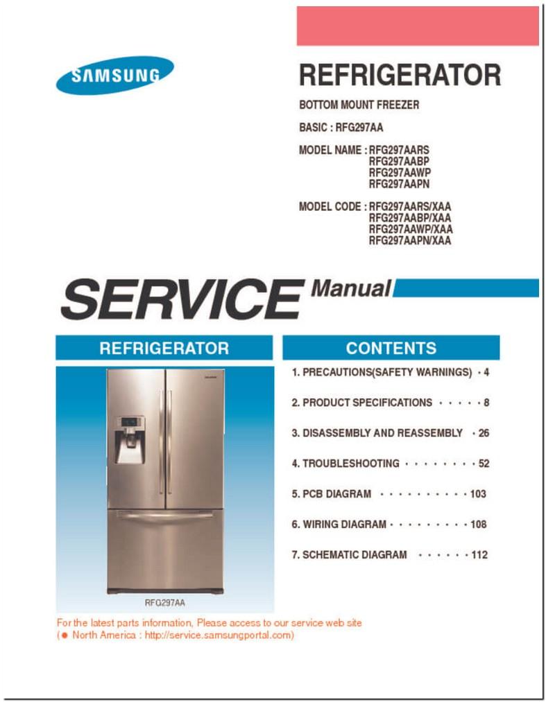 Samsung Refrigerator Service Manual