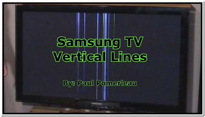 Samsung Tv Lines On Screen Fix