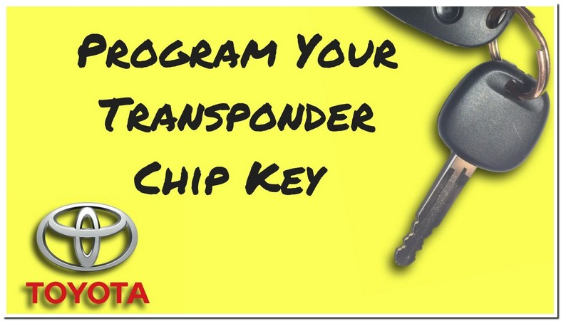 Toyota Camry Transponder Key Programming Instructions