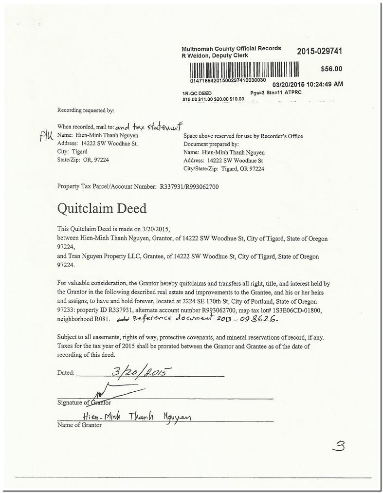 Transfer Property Deed To Llc