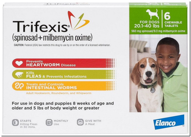 Trifexis For Dogs 20 40 Lbs