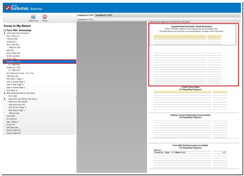 Turbotax Business Form 1065