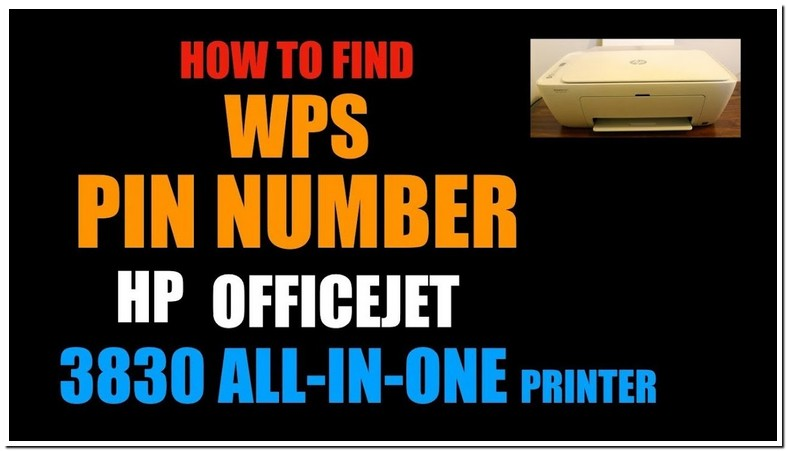 Where Is Wps Pin On Hp Printer 3830