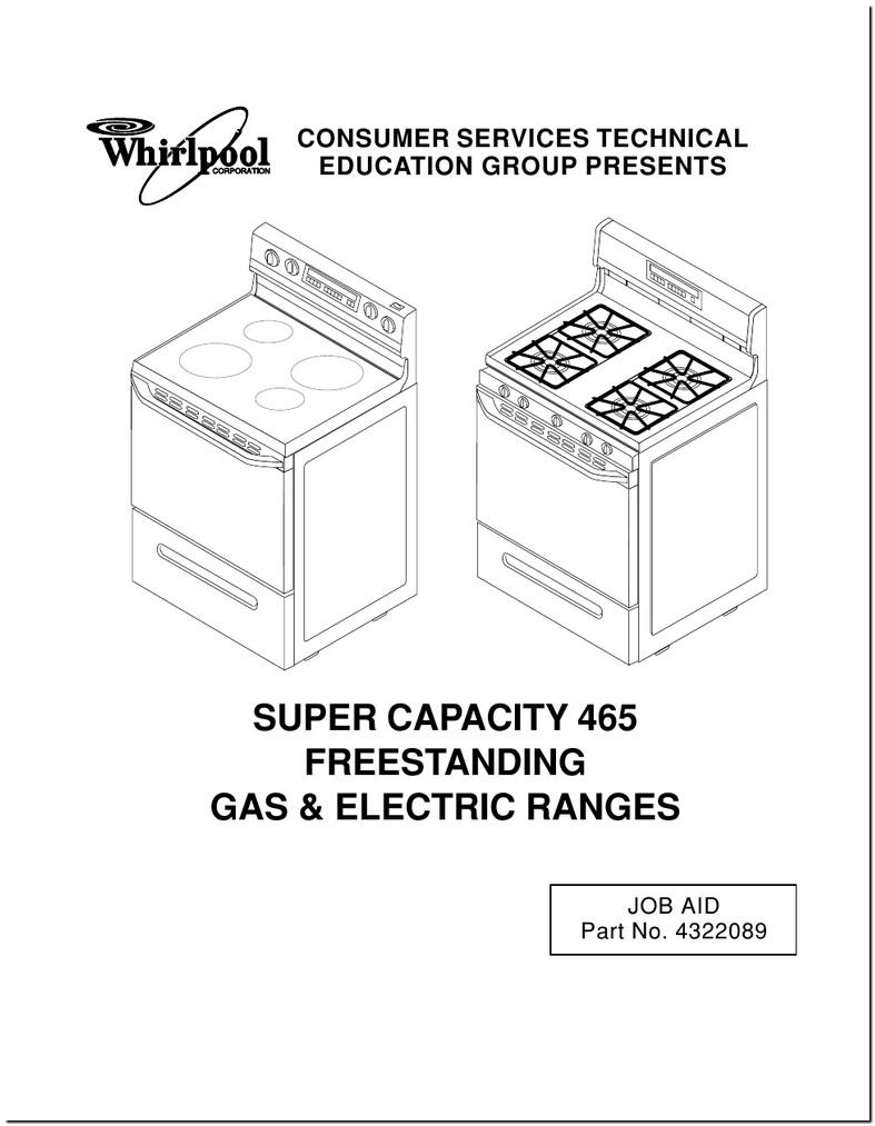 Whirlpool Stove Manual Super Capacity 465