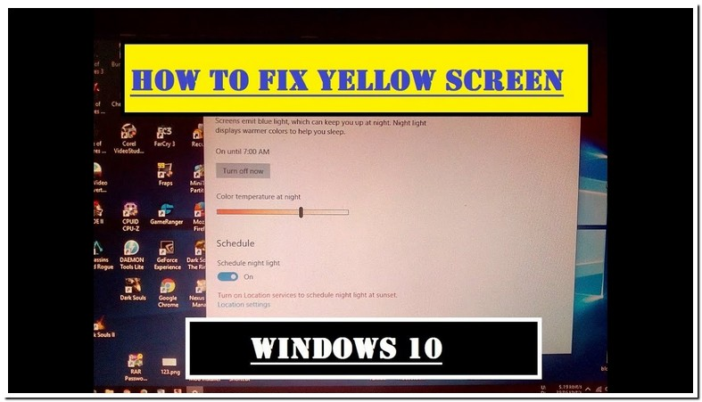 Why Is My Computer Screen Have A Yellow Tint
