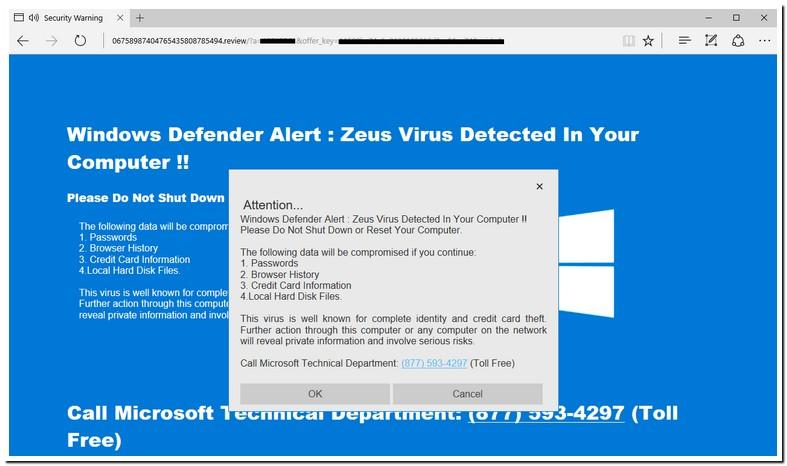 Windows Defender Zeus Virus Detected On Your Computer